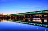 Illuminated bridge at night — Stock Photo