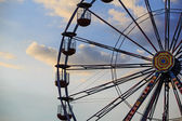 Ferris wheel on the background of sky — Stock Photo