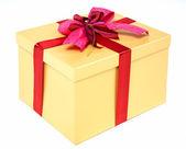 Beautifully packed gift box — Stock Photo