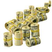 Piles of money isolate — Stock Photo