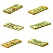 Piles of money — Stock Photo