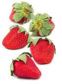 Five strawberries — Stock Photo