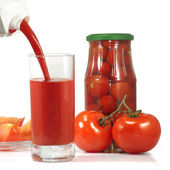 Tomatoes isolate — 图库照片