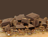 Chunks of chocolate — Stock Photo