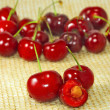 Stock Photo: Ripe cherries closeup
