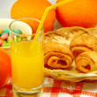 Orange juice closeup — Stock Photo