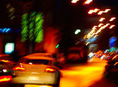 Image of of cars on the night road — Stock Photo