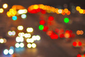 Abstract image of street lights at night — Stock Photo