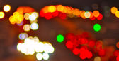 Abstract image of street lights  — Stock Photo