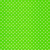 Image of green fabric with white polka dots — Stock Photo