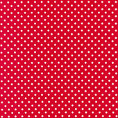 Image of red fabric with white polka dots — Stock Photo