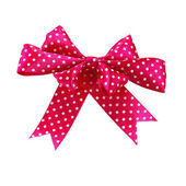 Isolated image of red bow on white background — Stock Photo