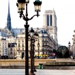 Panoramic view of Notre Dame de Paris, France — Stock Photo