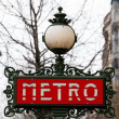 Typical Metropolitain sign in Paris, France — Stock Photo #43993255