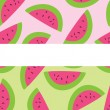 Royalty-Free Stock Vector Image: Two Seamless Watermelon Patterns