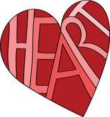 Heart Written in a Heart — Stock Vector