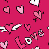 Láska vzor — Stock vektor