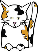 Kočka kaliko — Stock vektor