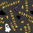 Happy Halloween Seamless Pattern — 图库矢量图片