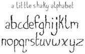 A Little Shaky Alphabet — Stock Vector