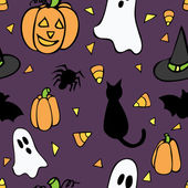 Patrón sin costuras halloween — Vector de stock