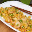 Making Shrimp Fried Rice. Macro. — Stock Photo