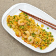 Making Shrimp Fried Rice - Stock Photo