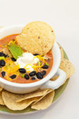 Black Bean Chili — Stock Photo