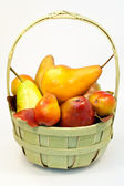 Lots of pears in the basket — Stock Photo