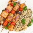 Salmon kebab — Stock Photo #18066833