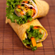 Wrapped tortilla sandwich rolls - Stock Photo
