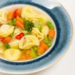 Tortellini soup — Stock Photo