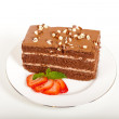 Slice Of Chocolate Fudge Cake — Stock Photo #25327607