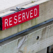 Reserved Sign — Foto Stock