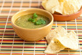 Tomatillo salsa verde, mexican cuisine — Stock Photo