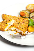 Fried fish fillet — Stok fotoğraf