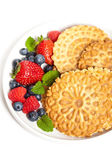 Traditional Italian pizzelle — Stock Photo