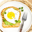 Постер, плакат: Avocado Toast with Fried Egg