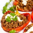Stuffed Red Peppers — Stock Photo