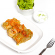 Stuffed cabbage with tomato sauce — Stock Photo #33380647