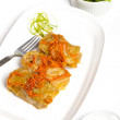 Stuffed cabbage with tomato sauce — Stock Photo #33380717