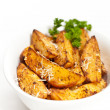 Baked Potato Wedges — Stock Photo