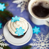 Cupcake. Christmas theme. — Stok fotoğraf
