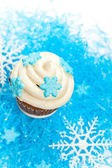Cupcake with snowflake — Stok fotoğraf