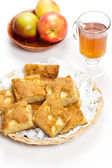 Pieces of an apple cake — Stockfoto