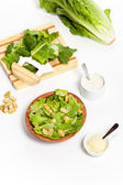 Classic Caesar Salad with croutons — Foto Stock