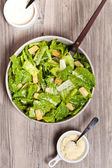 Classic Caesar Salad with croutons — Stock Photo
