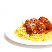 Spaghetti with Meatballs — 图库照片