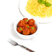 Meatballs in tomato sauce — Stockfoto