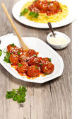 Meatballs in tomato sauce — Stock Photo